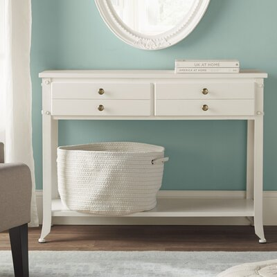 Farra Console Table Color: White