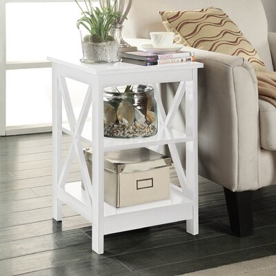 Stoneford End Table Color: White