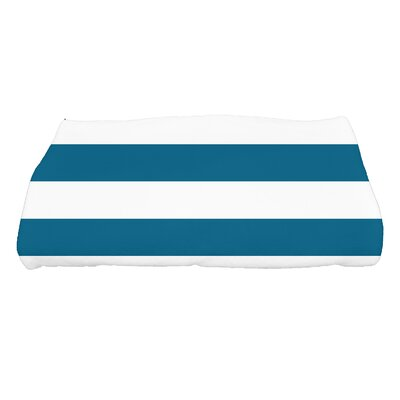 Inwood Peace 2 Stripe Bath Towel Color: Teal