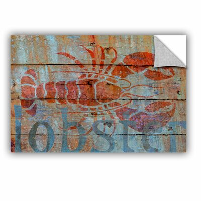 Lobster on Wood Removable Wall Decal Size: 08