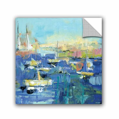 Woodsetter Abstract Harbor 7 Easy Sunday Wall Mural Size: 10