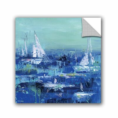 Woodsetter Abstract Harbor 13 Feeling Peaceful Wall Mural Size: 10
