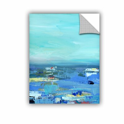 Woodsetter Abstract Harbor 9 Water Makes Me Happy Wall Mural Size: 10