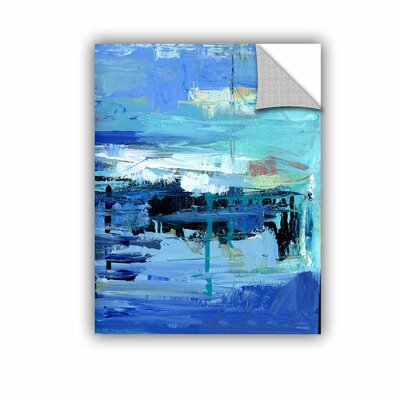 Woodsetter Abstract Harbor 11 Evening on the Water Wall Mural Size: 10