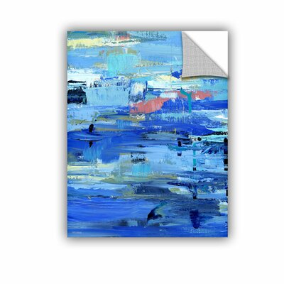 Woodsetter Abstract Harbor 12 I Love the Water Wall Mural Size: 10