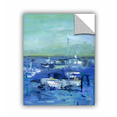 Woodsetter Abstract Harbor 14 Just Happy Wall Mural Size: 10