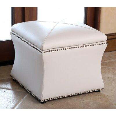 Azalea Ottoman Upholstery: Ivory