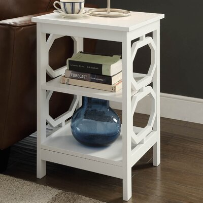 Ardenvor End Table Color: White
