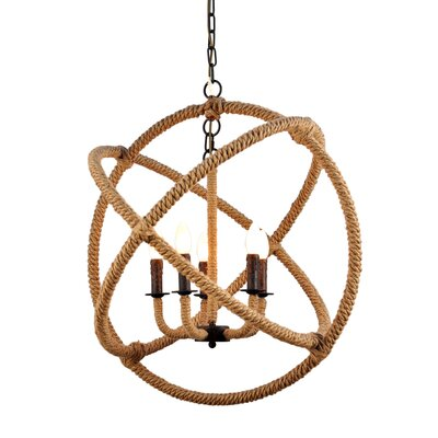Melodi Rope Enclosed 5-Light Candle-Style Chandelier