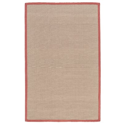 Ivydale Hand-Woven Persimmon Indoor/Outdoor Area Rug Rug Size: Rectangle 36 x 56