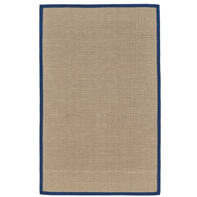 Ivydale Hand-Woven Blue Indoor Area Rug Rug Size: Rectangle 36 x 56