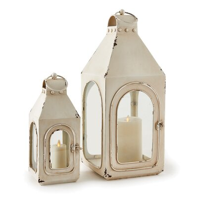 2 Piece Metal Lantern Set