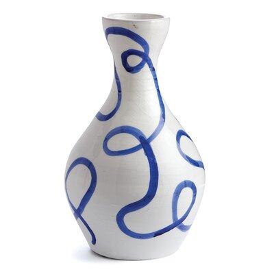 Breakwater Bay Haverhille Blue/White Ceramic Table Vase