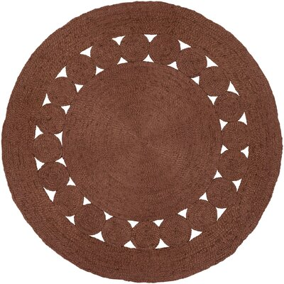 Summerland Hand-Woven Burnt Orange Area Rug Rug Size: Round 3