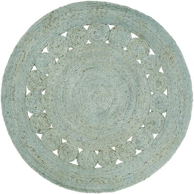 Pinecrest Hand-Woven Sage Area Rug Rug Size: Round 8