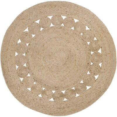 Summerland Hand-Woven Wheat Area Rug Rug Size: Round 8