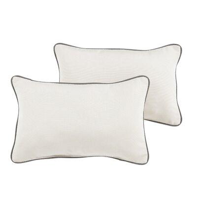 Palanga Indoor/Outdoor Sunbrella Lumbar Pillow Color: Charcoal