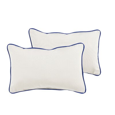 Dorset Indoor/Outdoor Sunbrella Lumbar Pillow Color: True Blue