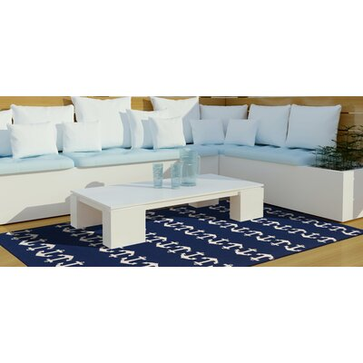 Orinda Anchor Hand-Tufted Navy Indoor/Outdoor Area Rug