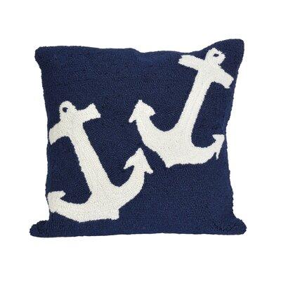 Valencia Anchor Indoor/Outdoor Throw Pillow Color: Blue