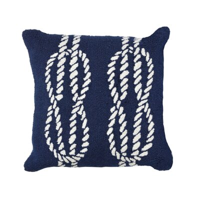 Lowes Ropes Indoor/Outdoor Throw Pillow Color: Navy