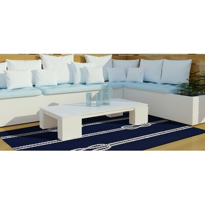 George Ropes Hand-Tufted Navy Indoor/Outdoor Area Rug