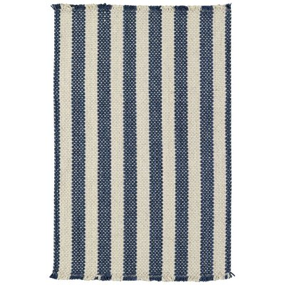 Felton Stripe Blue Area Rug Rug Size: 7 x 9