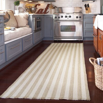 Felton Tan/White Area Rug Rug Size: Runner 2' x 8'