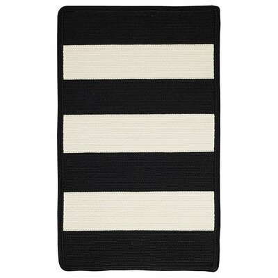 Mitscher Black/White Indoor/Outdoor Area Rug Rug Size: Cross Sewn 8 x 11