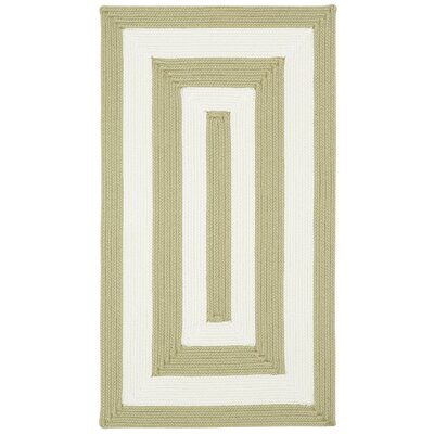 Mitscher Cream Striped Outdoor Area Rug Rug Size: Concentric 4 x 6