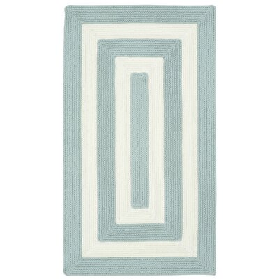 Mitscher Striped Spa Blue Area Rug Rug Size: Cross Sewn 3 x 5