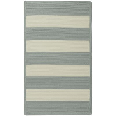 Mitscher Striped Spa Blue Area Rug Rug Size: Cross Sewn 18 x 26