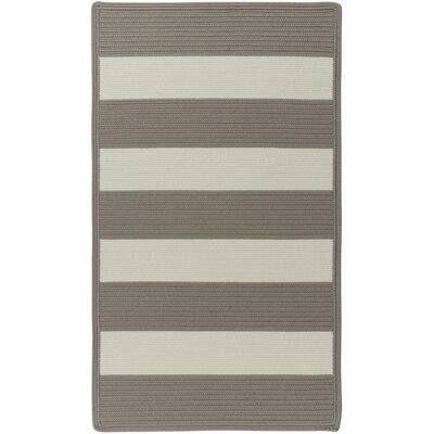Mitscher Beige Striped Outdoor Area Rug Rug Size: Cross Sewn 18 x 26
