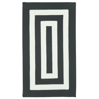 Mitscher Black/White Striped Outdoor Area Rug Rug Size: Concentric 3 x 5