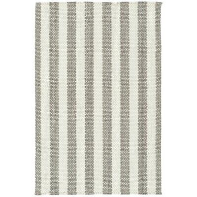 Felton Striped Dove Gray Area Rug Rug Size: 2 x 3