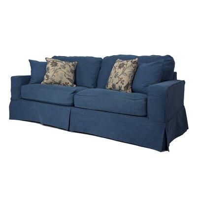 Oxalis Slipcovered Sofa Upholstery: Indigo Blue