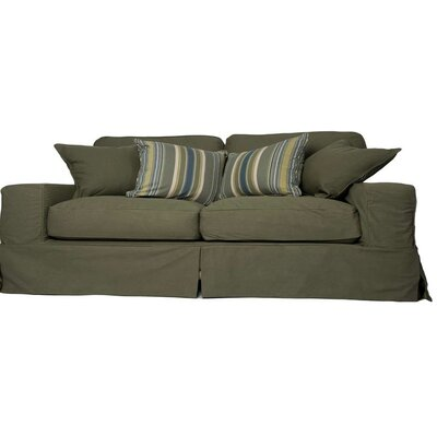 Oxalis Slipcovered Sofa Upholstery: Forest Green