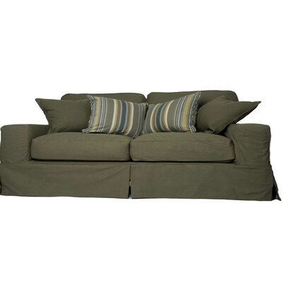 Oxalis Sofa Slipcover Set Upholstery: Forest Green