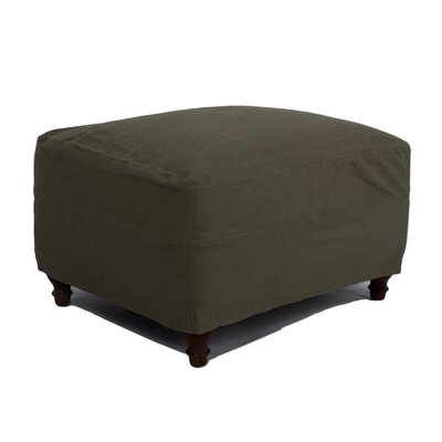 Oxalis Ottoman Slipcover Upholstery: Forest Green