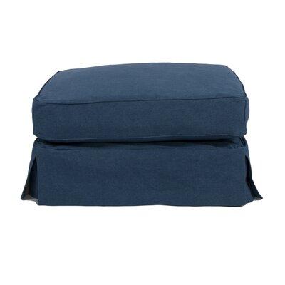 Oxalis Ottoman Slipcover Upholstery: Indigo Blue