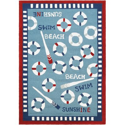 Welshire Hand-Woven Blue Indoor/Outdoor Area Rug Rug Size: 36 x 66