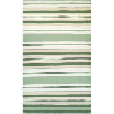 Dewey Hand-Woven Jade/Cream Indoor/Outdoor Area Rug Rug Size: 3 x 5
