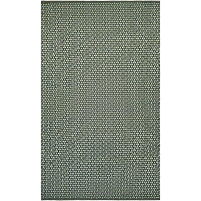 Dewey Hand-Woven Green Indoor/Outdoor Area Rug Rug Size: 3 x 5