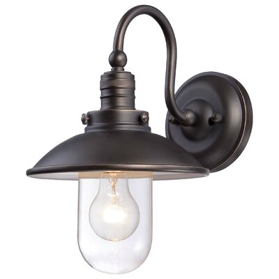 Roselawn 1-Light Outdoor Barn Light Finish: Oil rubbed Bronze