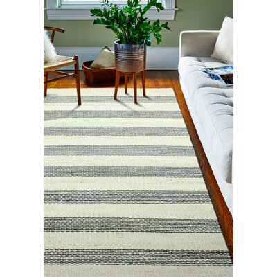 Bluffton Hand-Knotted Cream/Grey Area Rug Rug Size: 7'6 x 9'6