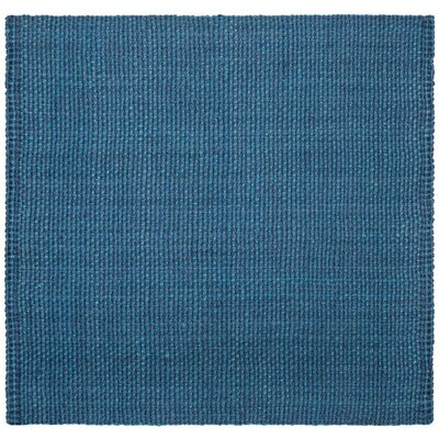 Conrad Hand-Woven Blue Area Rug Rug Size: Square 6