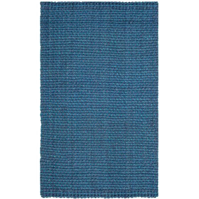 Fitzpatrick Hand-Woven Blue Area Rug Rug Size: Rectangle 3 x 5