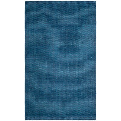 Conrad Hand-Woven Blue Area Rug Rug Size: 5 x 8