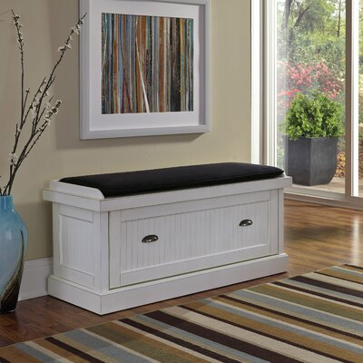 Gouldsboro Wood Storage Entryway Bench Color: Off-White