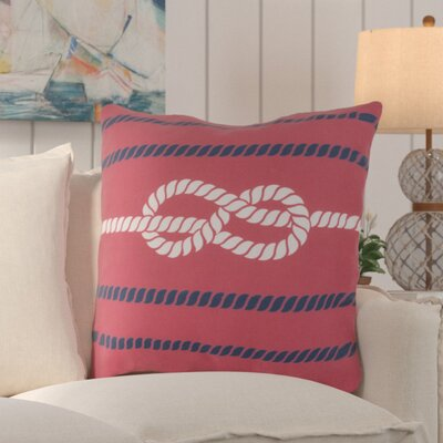 Orchid Outdoor Throw Pillow Color: Poppy/Cobalt